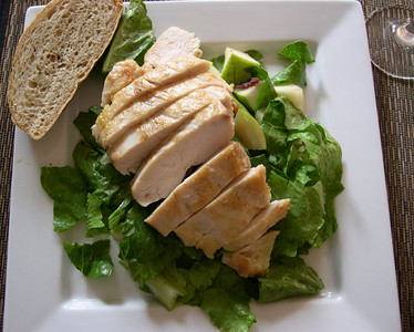 Chicken and Pear Salad with Bacon Vinaigrette