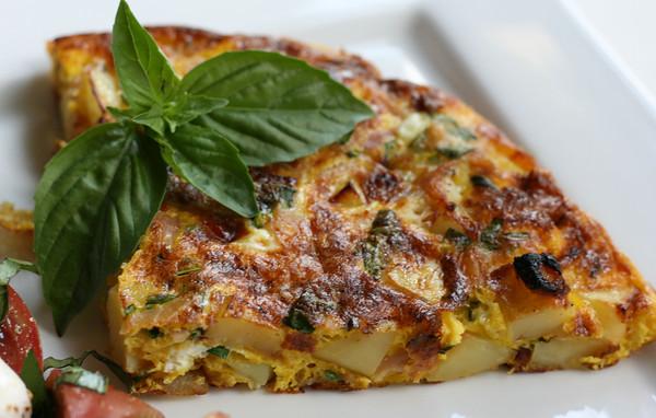 Frittata with Potato and Prosciutto