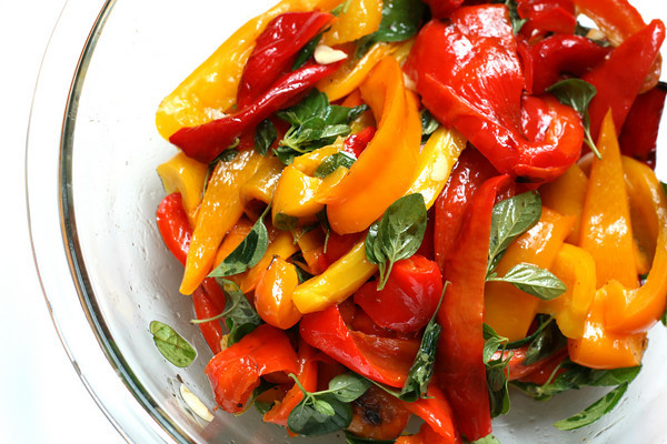 Tyler Florence Roasted Peppers in Olive Oil