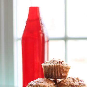 Boozy Cranberry Muffins
