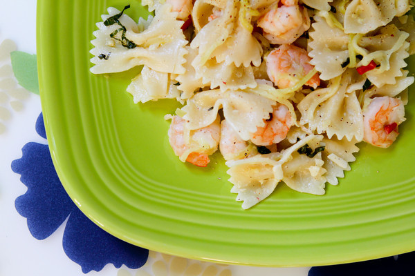 Pasta with Shrimp and Zucchini