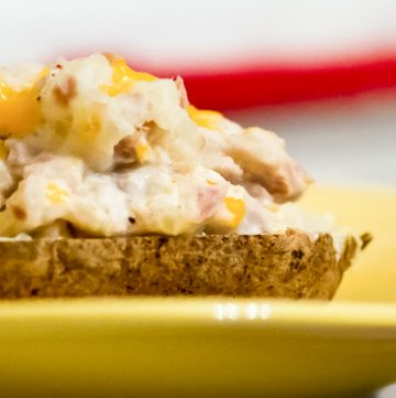 Cheesy Tuna stuffed Baked Potato
