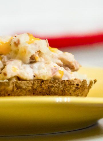 Cheesy Tuna stuffed Baked Potato