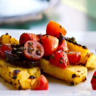 Polenta with Tomato Olive Salsa
