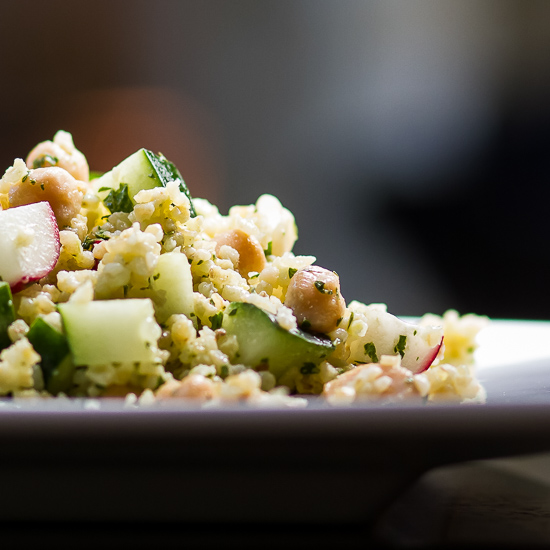 Bulgur and Chickpea Salad with Parsley Dressing