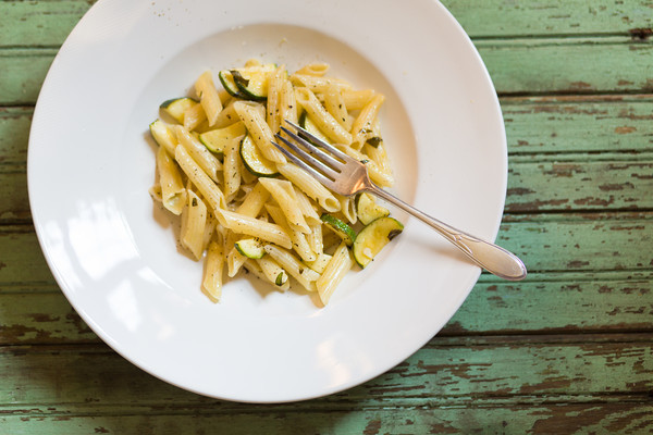 Penne with Zucchini and Mint