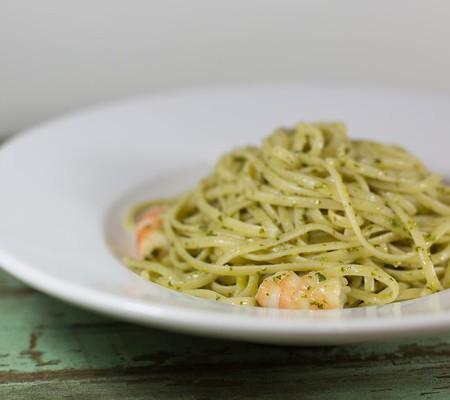 Pasta with Shrimp and Cilantro Lime Pesto