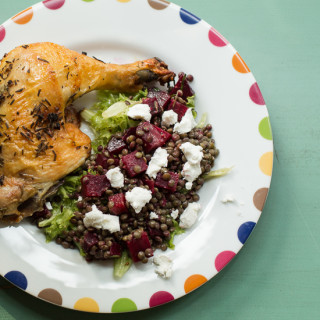 French Lentils and Roasted Beets Salad