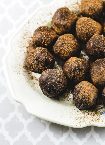 Dark Chocolate Rum Truffles