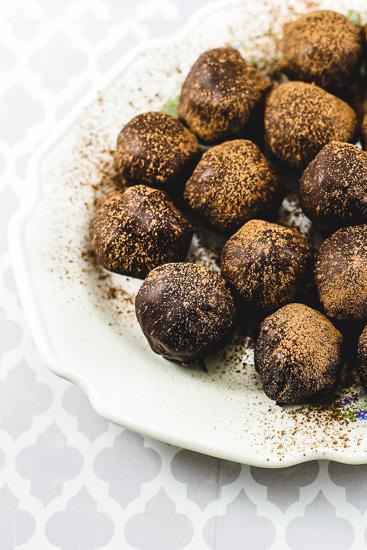 Dark Chocolate Rum Truffles