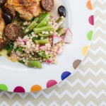 green beans and israeli couscous salad