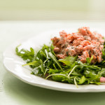 Salmon Salad on Arugula