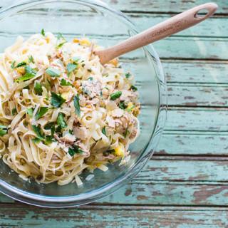 Linguini with Tuna, Capers, and Golden Raisins