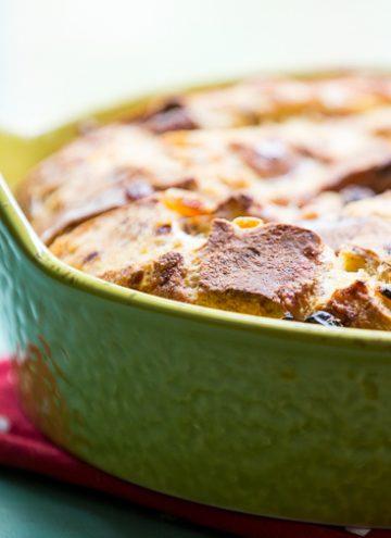 Hot Cross Buns Bread Pudding