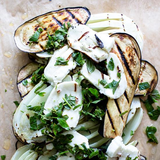 Grilled Eggplant Salad | Sidewalk Shoes