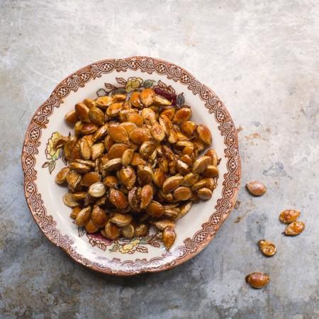 Sweet and Salty Roasted Pumpkin Seeds