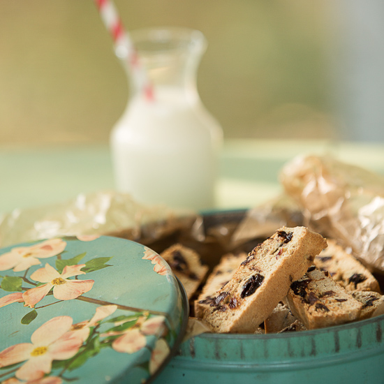 Chocolate-cherry biscotti #biscotti