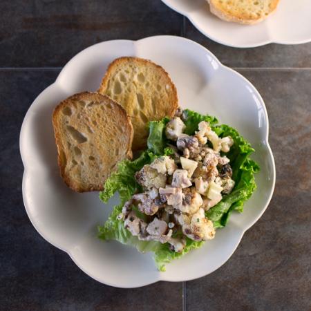 Roasted Cauliflower Waldorf Salad