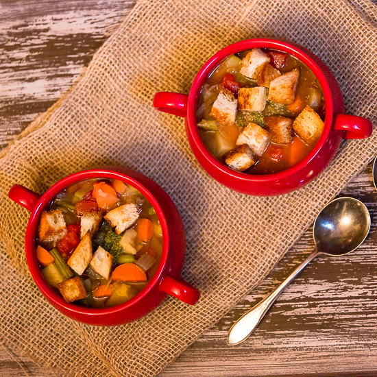 French Vegetable Soup with Pesto