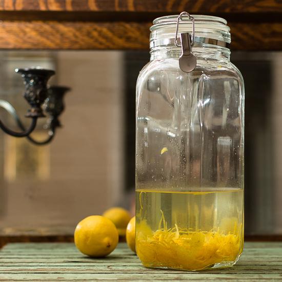 Homemade Limoncello -