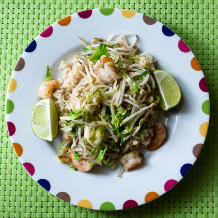 Spicy Shrimp and Brussels Sprout Stir-Fry