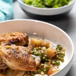 Slow Cooker Chicken Vesuvio in a bowl