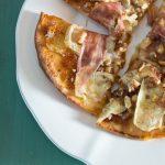 Fig, Brie, Walnut and Prosciutto Pizza