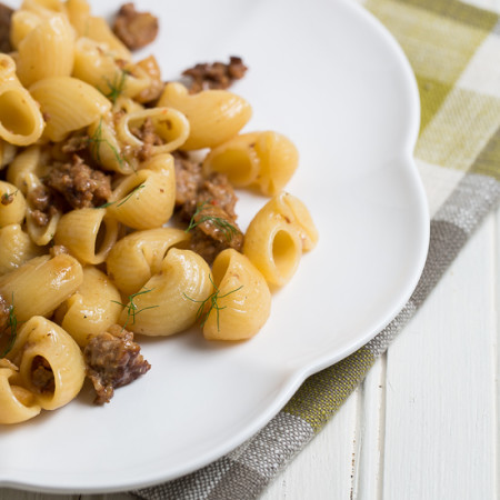 Pork sausage and caramelized fennel pasta