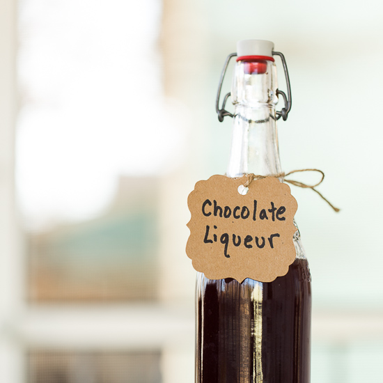 Homemade DIY Chocolate Liqueur