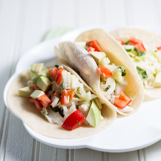 Fish Tacos with Wilted Cabbage