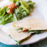 Brie, Apple and Arugula Quesadillas