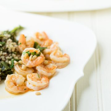 Shrimp with Orange and Pine Nuts