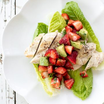 Chicken cutlets with strawberry avocado salsa