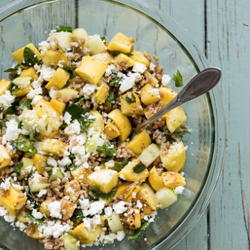 Yellow Squash and Farro Salad