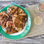 Espresso Cardamom Rubbed Grilled Pork Chops