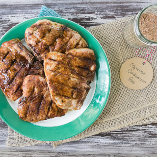 Grilled Pork Chops with Espresso Cardamom Rub