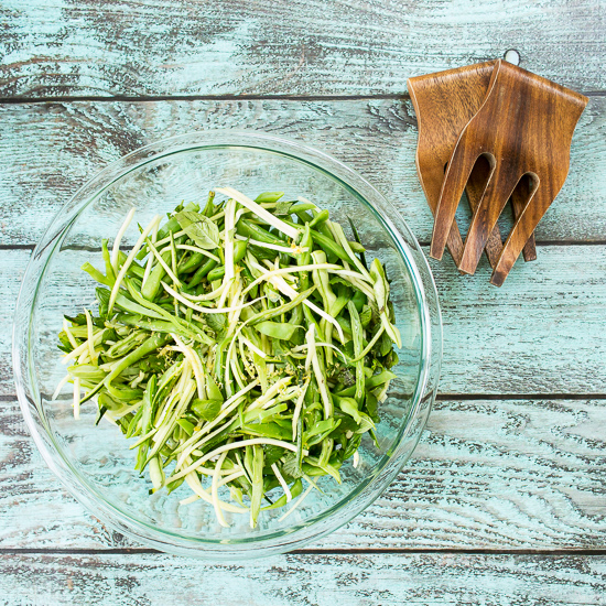 Zucchini, Green Bean, and Chile Slaw -