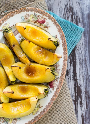 Bourbon Maple Grilled Acorn Squash