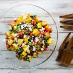 Black-eyed peas salad