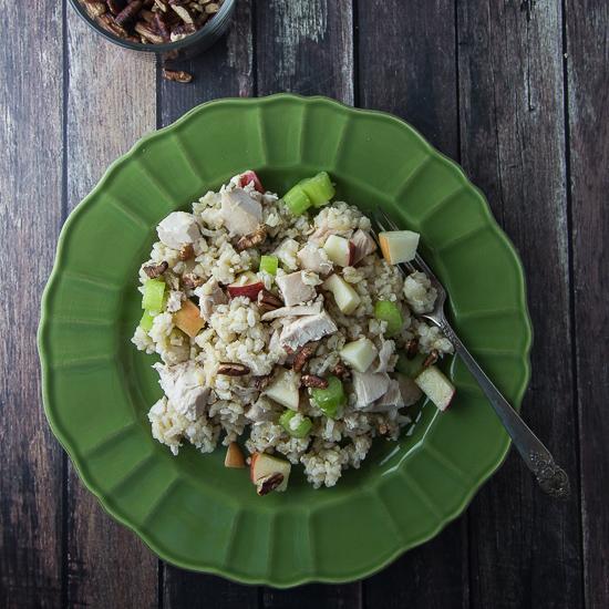 Brown Rice Chicken Waldorf Salad