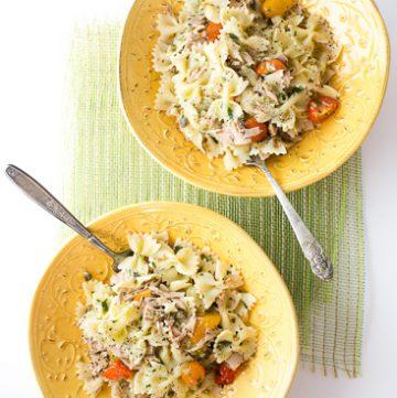 Tuna and Tomato pasta
