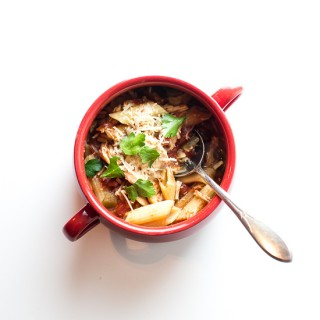 Slow Cooker Chicken Parmesan Soup