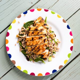 Lemon-Cumin Grilled Chicken Farro Salad