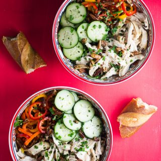 Chicken, Cucumbers and Sweet Peppers Salad