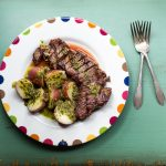 Grilled Steak with New Potatoes and Chimichurri Sauce
