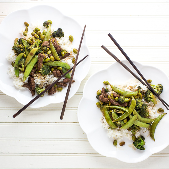 Beef with Broccoli and Snow Peas