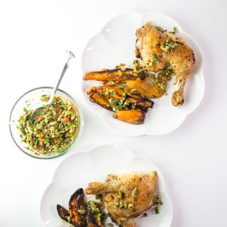 Chicken, Sweet Potatoes and Olive Tapenade