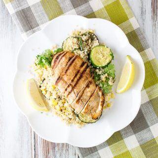 Spicy Chicken with Corn and couscous salad