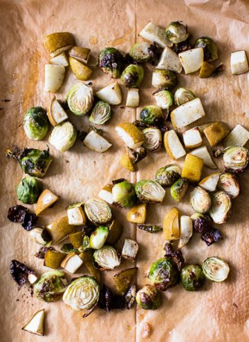Roasted Brussels Sprouts and Pears Salad