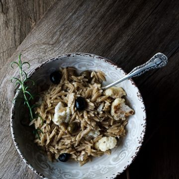Roasted Cauliflower and Garlic Pasta